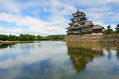 Castello di Matsumoto a Matsumoto, Giappone Immagini Stock Libere da Diritti