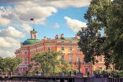Castello di Mikhailovsky, St Petersburg Fotografie Stock Libere da Diritti