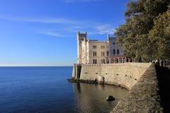 Castello Di Miramare, Τεργέστη Στοκ Φωτογραφίες