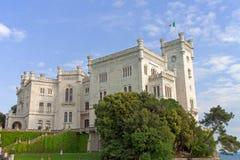 Castello di Miramare (Italia) Fotografie Stock Libere da Diritti