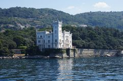 Castello di Miramare - Trieste, Italia Fotografie Stock Libere da Diritti
