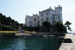 Castello di Miramare - Trieste, Italia Immagini Stock Libere da Diritti