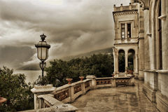 Castello di Miramare, view on the Adriatic Sea Stock Photo