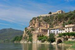 Castello di Miravet, Spagna fotografie stock libere da diritti