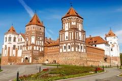 Castello di Mirskij Città MIR belarus Fotografia Stock