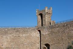 Castello di Montalcino in Toscana Immagini Stock