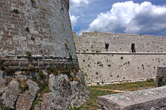 Castello di Monte Sant'Angelo, Italia del sud Fotografie Stock