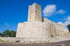 Castello di Monte Sant ' Angelo. La Puglia. L'Italia. Fotografie Stock Libere da Diritti