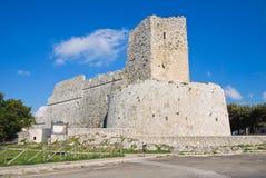 Castello di Monte Sant ' Angelo. La Puglia. L'Italia. Fotografia Stock Libera da Diritti