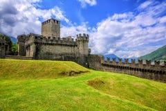 Castello Di Montebello, Μπελιντζόνα, Ελβετία στοκ εικόνες