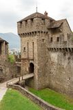 Castello di Montebello a famous tourist attraction in Bellinzona. Ticino canton, Switzerland Royalty Free Stock Image