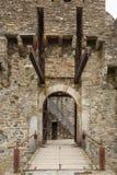 Castello di Montebello a famous tourist attraction in Bellinzona. Trapdoor of Castello di Montebello from front view. The castle is a famous tourist attraction Royalty Free Stock Photos
