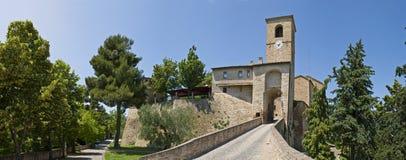 Castello di Montegridolfo Fotografia Stock Libera da Diritti