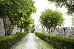 Castello di Montemor-o-Velho, nel Portogallo Fotografia Stock
