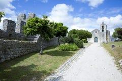 Castello di Montemor-o-Velho, nel Portogallo Fotografie Stock