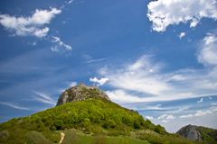 Castello di Montsegur Immagine Stock