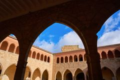 Castello di Mora de Rubielos a Teruel Spagna fotografia stock