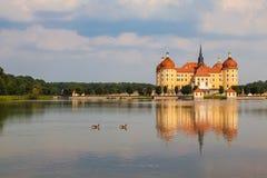 Castello di Moritzburg vicino a Dresda, Germania immagine stock libera da diritti