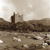 Castello di Moy, tono di seppia Fotografie Stock