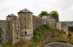 Castello di Namur nel giorno nuvoloso Fotografia Stock