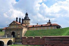 Castello di Nesvizh nel Belarus Fotografie Stock