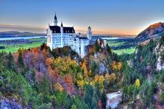 Castello di Neuschwanste dentro Fotografie Stock Libere da Diritti