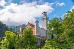 Castello di Neuschwanstein in Baviera, Germania Bello e punto di riferimento famoso Immagini Stock Libere da Diritti