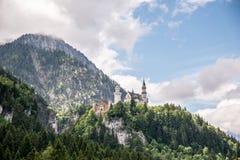 Castello di Neuschwanstein in Baviera, Germania Bello e punto di riferimento famoso Fotografia Stock Libera da Diritti
