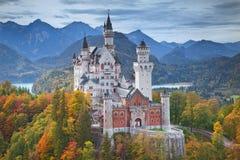 Castello di Neuschwanstein, Germania Immagini Stock Libere da Diritti