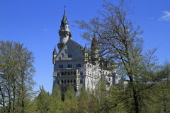Castello di Neuschwanstein nelle alpi bavaresi Immagine Stock Libera da Diritti