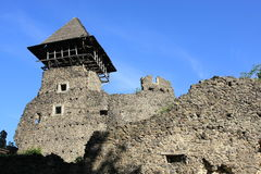 Castello di Nevytsky in Zakarpattia Oblast, Ucraina Fotografie Stock