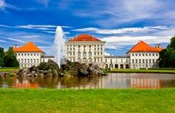 Castello di Nymphenburg Fotografie Stock Libere da Diritti