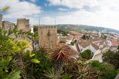 Castello di Obidos Fotografia Stock