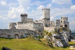 Castello di Ogrodzieniec, Polonia. immagini stock libere da diritti