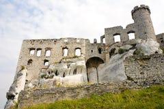 Castello di Ogrodzieniec, Polonia. immagine stock libera da diritti