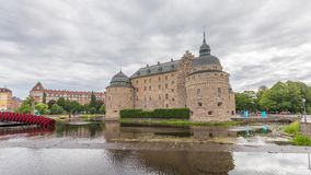 Castello di Orebro in Svezia archivi video