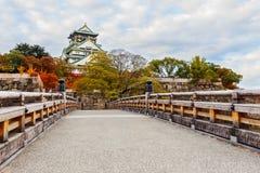 Castello di Osaka in autunno Immagini Stock Libere da Diritti