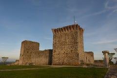 Castello di Ourem dentro fotografia stock libera da diritti