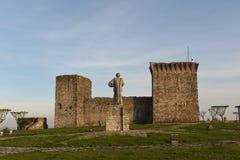 Castello di Ourem, regione di Beiras immagine stock