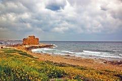 Castello di Pafo, Cipro Fotografia Stock Libera da Diritti
