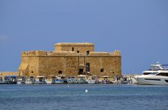 Castello di Pafo nel Cipro Fotografia Stock