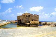 Castello di Paphos Immagini Stock