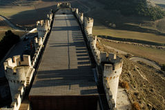 Castello di Peñafiel a Valladolid, Spagna Immagine Stock Libera da Diritti