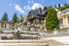 Castello di Peles, Sinaia, Romania fotografie stock libere da diritti
