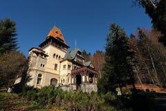 Castello di Pelesor, città di Sinaia, Romania fotografia stock