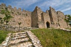 Castello di Platamonas immagini stock