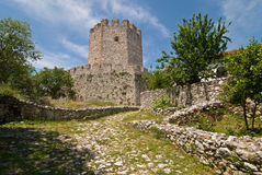 Castello di Platamonas Immagine Stock