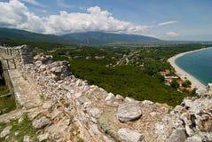 Castello di Platamonas fotografia stock