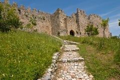 Castello di Platamonas fotografia stock libera da diritti