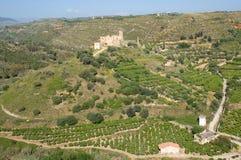 Castello di Poggiodiana, Sicily, Italy Stock Photography